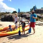 Illa de Arousa con niños