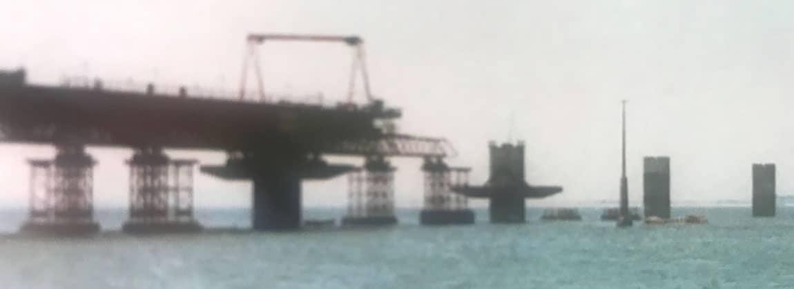Construcción puente Illa de Arousa