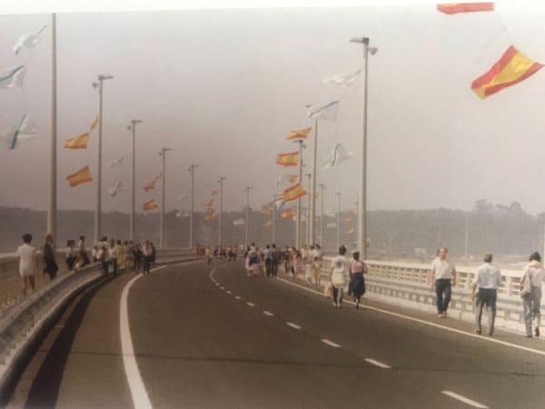 Inauguración puente Illa de Arousa