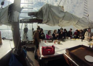 Visita en barco Arousa