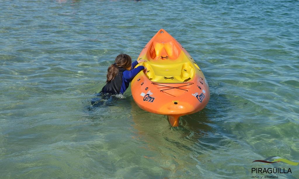 Kayak en A Illa de Arousa