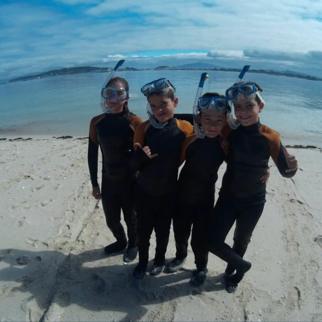 Snorkel en Pontevedra