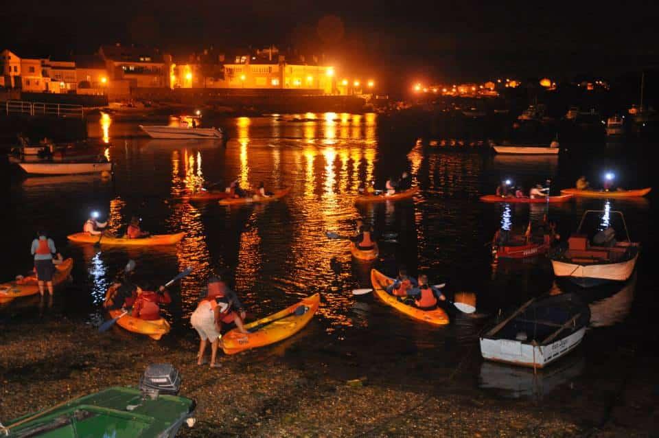 Ruta nocturna en kayak Arousa