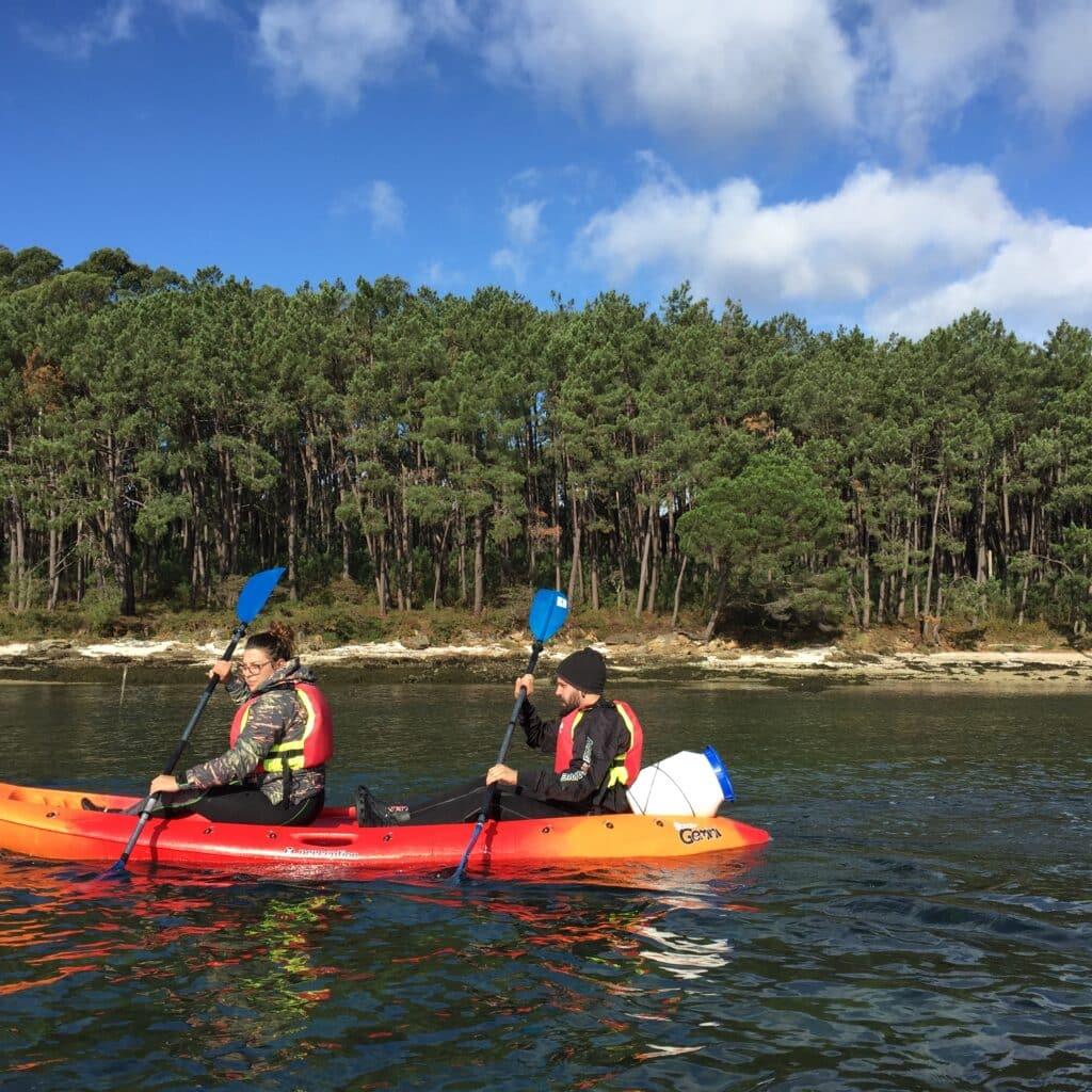 Kayak isla de Cortegada